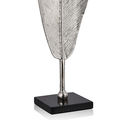 bird of paradise plume decor silver