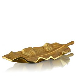 mangue leaf decor platter