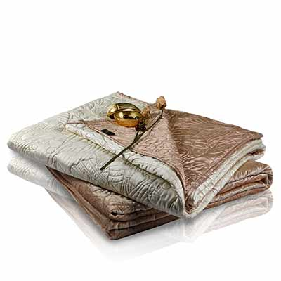 critter meadow faux silk reversible bedspread