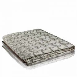 leaflet plaid faux silk reversible bedspread