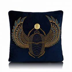 scarab beetle cushion cover