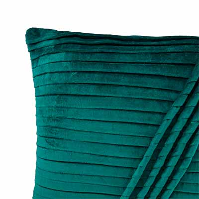 Pleated Turq Cushion Cover