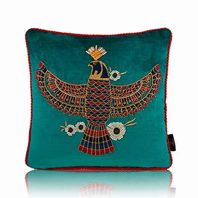majesty of the sky teal cushion cover
