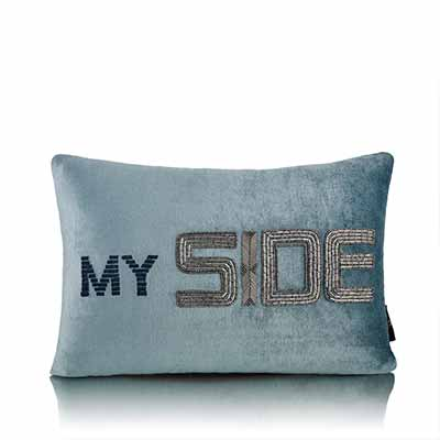side divider light blue cushion cover