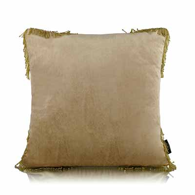 Gold Pipe Reversible Cushion Cover