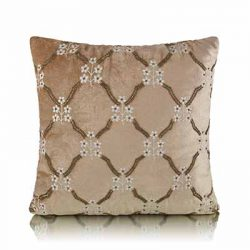 floral entwined trellis cushion cover
