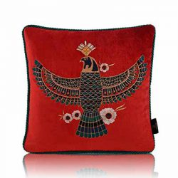 majesty of the sky vermillion cushion cover