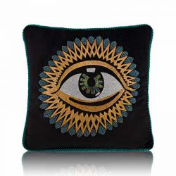 eye of horus black cushion cover