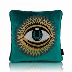 eye of horus turq cushion cover