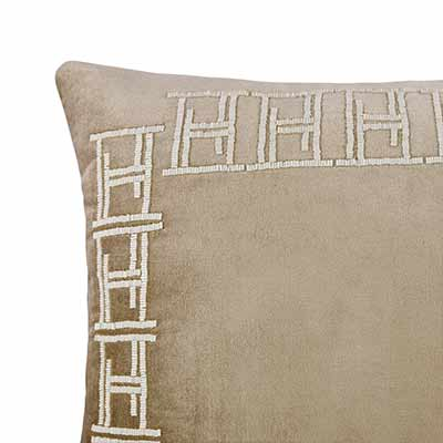 HEIMARS BEADED BORDER CUSHION COVER