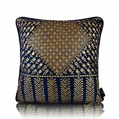 assutti foil blue cushion cover