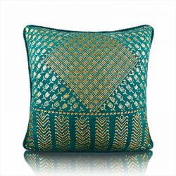 assutti foil teal cushion cover