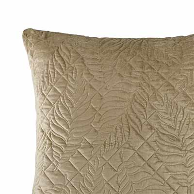 leaf lattice velvet euro cushion cover