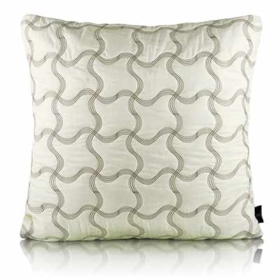 leaflet plaid flaux silk euro cushion cover