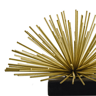 STAR BURST GOLD/BLACK DECOR LARGE