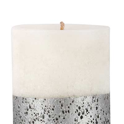 scoria argent candle silver
