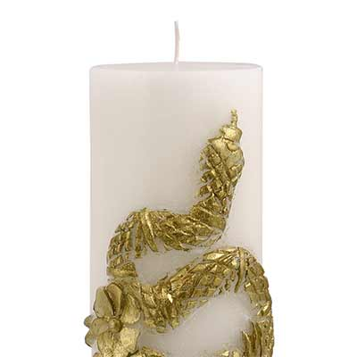 SERPENT PILLAR CANDLE GOLD