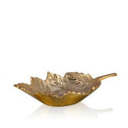 willow leaf decor platter