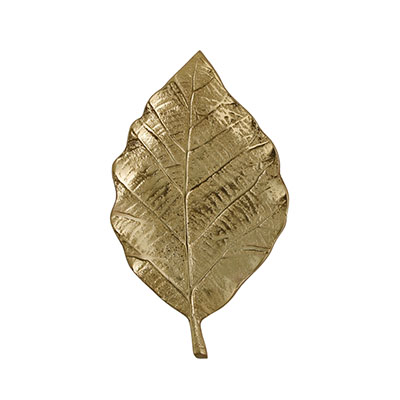 MAHOGANY LEAF WALL DECOR GOLD