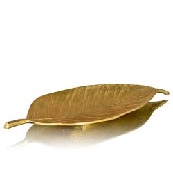neem leaf decor platter