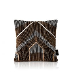 bryant black velvet beaded cushion
