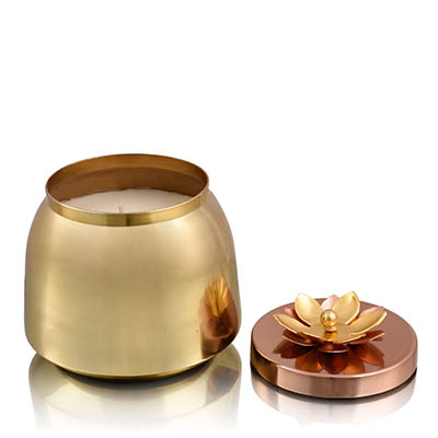 plumeria dome wax votive large
