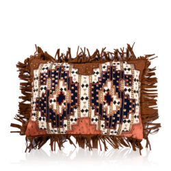 boteh jeghe mudcloth suede patch cushion cover