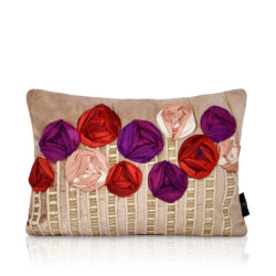 grasse cream gold velvet cushion