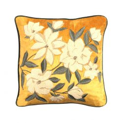 mangoliacae velvet cushion cover