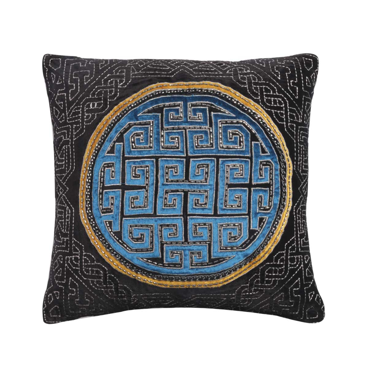 celtaidd velvet cushion cover