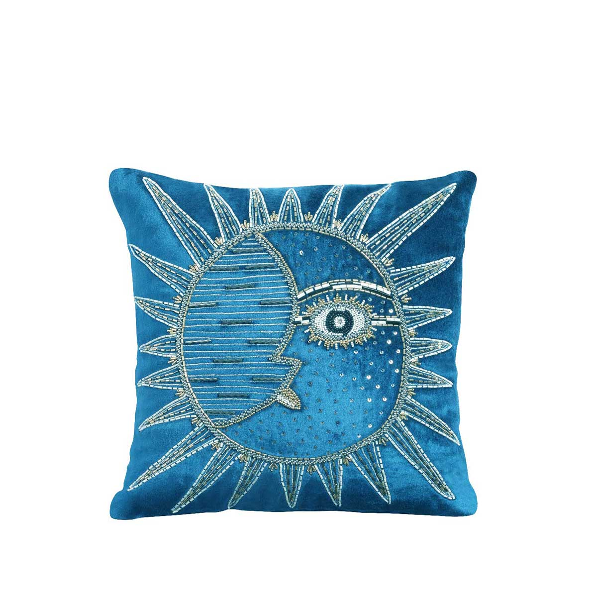 luna helios velvet cushion cover