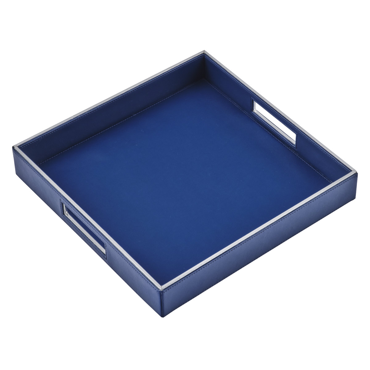 blue luxor serving tray square